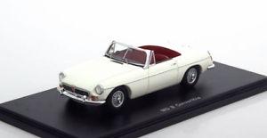 【送料無料】模型車 モデルカー スポーツカー スパークホワイト143 spark mg convertible 1966 white