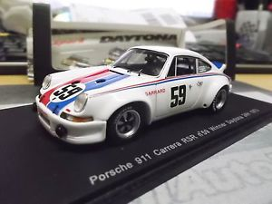 【送料無料】模型車 モデルカー スポーツカー ポルシェカレラデイトナ#ヘイウッドスパークporsche 911 carrera rsr winner daytona 1973 59 brumos gregg haywood spark 143