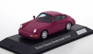 【送料無料】模型車 モデルカー スポーツカー スパークポルシェテクノ143 spark porsche 911 964 30 years 964 techno classica 2018 purple