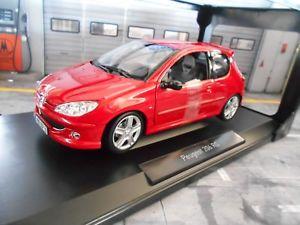 【送料無料】模型車 モデルカー スポーツカー プジョースポーツレッドレッドドアpeugeot 206 rc sport 2003 red rot 3 trer neu norev 118