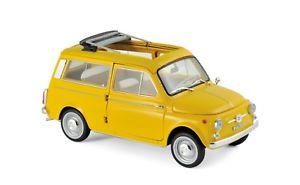 【送料無料】模型車 モデルカー スポーツカー フィアットイエローfiat 500 giardiniera 1968 gelb 118 norev 187724 neu amp; ovp