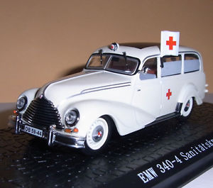 【送料無料】模型車 モデルカー スポーツカー コンビアトラスemw 340 kombi ambulanz rotes kreuz sankra ddr 1952 _ atlas 143 bmw