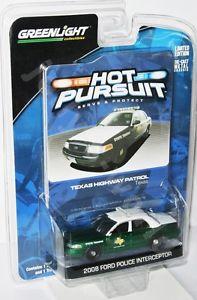 【送料無料】模型車 モデルカー スポーツカー ライトホットフォードテキサスハイウェイパトロールグリーンマシンgreenlight hot pursuit 2008 ford texas highway patrol green machine 164