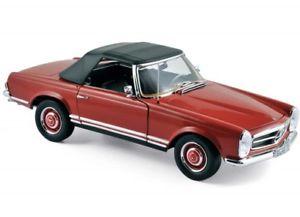 【送料無料】模型車 モデルカー スポーツカー メルセデスベンツnorev 183520 mercedesbenz 280sl 1969 red 118