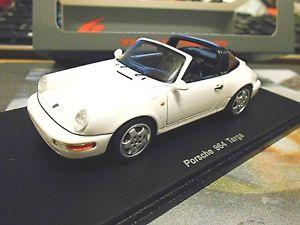 【送料無料】模型車 モデルカー スポーツカー ポルシェタルガカレラホワイトホワイトスパークエンドporsche 911 964 targa carrera weiss 1990 white spark resin highenddetail 143