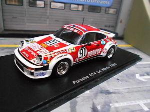 【送料無料】模型車 モデルカー スポーツカー ポルシェターボルマン#スパークporsche 911 934 turbo le mans 1980 91 denver bussi salam spark resin 143