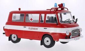 【送料無料】模型車 モデルカー スポーツカー ミニバスモデルbarkas b 1000 mini bus fire brigade ambulance 118 model modelcargroup