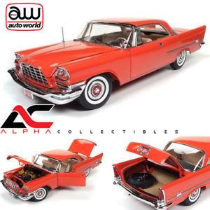 【送料無料】模型車 モデルカー スポーツカー アムクライスラーゴーギャンautoworld amm1110 118 1957 chrysler 300c hardtop 60th anniversary gauguin red