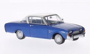 【送料無料】模型車 モデルカー スポーツカー フォードクーペネオスケールford taunus 17m p3 coup bluewhite 1962 neo scale 143 46200
