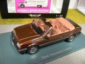 【送料無料】模型車 モデルカー スポーツカー ネオオペルアスコナブラウンメタリック143 neo opel ascona c cabrio braunmetallic 44615