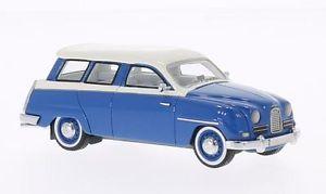 【送料無料】模型車 モデルカー スポーツカー サーブネオスケールsaab 95 bluewhite 1958 neo scale 143 49521