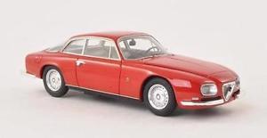 【送料無料】模型車 モデルカー スポーツカー アルファロメオスプリントネオスケールalfa romeo 2600 sprint zagato red 1967 neo scale 143 45600
