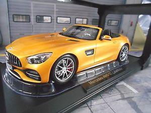 【送料無料】模型車 モデルカー スポーツカー メルセデスベンツロードスターmercedes benz amg gt c cabrio roadster 2017 gelb yellow 183451 norev neu 118