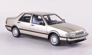 【送料無料】模型車 モデルカー スポーツカー サーブベージュメタリックネオスケールsaab 9000 cde beige metallic neo scale 143 44595