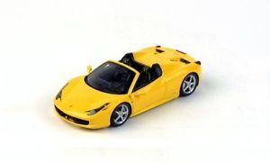 【送料無料】模型車 モデルカー スポーツカー フェラーリスパイダーモデナモデルferrari 458 spider 2012 giallo modena fujimi 143 model true scale miniatures