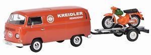 【送料無料】模型車 モデルカー スポーツカー トレーラーピッコロフォイルvw t2a mit anhnger und piccolo kreidler florett