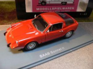 【送料無料】模型車 モデルカー スポーツカー ネオサーブソネットレッド143 neo saab sonnet ii rot 45525