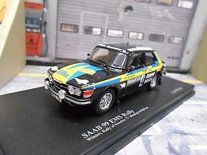 【送料無料】模型車 モデルカー スポーツカー ラリースウェーデン#saab 99 ems rallye schweden 1977 winner 4 blomqvist sylvan 1504 trofeu 143