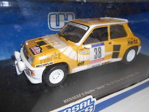 【送料無料】模型車 モデルカー スポーツカー ユニバーサルルノーターボヘルツunh4554 by universal hobbies renault 5 turbo hertz 38 1984 118