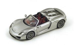 【送料無料】模型車 モデルカー スポーツカー ポルシェスパイダースパークシルバーporsche 918 spyder silver 2014 spark 143 s4244