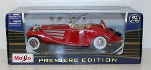 【送料無料】模型車 モデルカー スポーツカー メルセデスタイプロードスターレッドハットmaisto 118 36862 mercedes 500 k typ roadster 1936 red