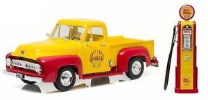 【送料無料】模型車 モデルカー スポーツカー ライトフォードヴィンテージシェルガスポンプシェルオイルgreenlight 118 1953 ford f100 shell oil with vintage shell gas pump
