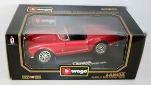 【送料無料】模型車 モデルカー スポーツカー ランチアアウレリアクモレッドハットburago 118 3010 lancia aurelia b24 spider 1955 red