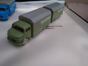 【送料無料】模型車 モデルカー スポーツカー ヴィンテージレゴメルセデストランスポートvintage 60 lego 187 camion mercedes transport vert amp; sa remorque