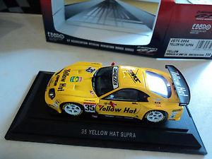 【送料無料】模型車 モデルカー スポーツカー トヨタスープライエローハットebbro 143 toyota supra 35 jgtc 2004 yellow hat