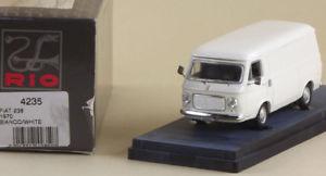 【送料無料】模型車 モデルカー スポーツカー リィアットビアンコホワイトrio 4235 fiat 238 1970 biancowhite