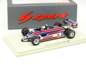 【送料無料】模型車 モデルカー スポーツカー スパークロータスグランプリデアンジェリスspark 143 f1 lotus 81 2d bresil gp 1980 de angelis