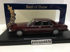 【送料無料】模型車 モデルカー スポーツカー ボスモデルシリーズマセラティマセラティクアトロポルテダークレッドボスbos model 143 maserati quattroporte ii series 1974 dark red met art bos43690