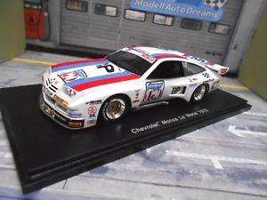 【送料無料】模型車 モデルカー スポーツカー シボレーモンツァクーペルマン#キーヤーワックススパークchevrolet monza gt v8 coupe le mans 1976 75 keyer wachs spark resin 143