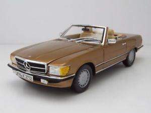 【送料無料】模型車 モデルカー スポーツカー メルセデスrゴールドメタリックモデルカーmercedes 350 sl cabrio r107 1986 gold metallic, modellauto 118 norev