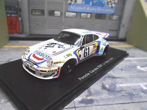 【送料無料】模型車 モデルカー スポーツカー ポルシェカレラルマン#ティソボールスパークporsche 911 carrera 30 rs le mans 1974 61 tissot elford ball resin spark 143