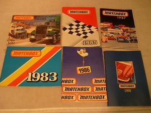 【送料無料】模型車 モデルカー スポーツカー マッチコレクタカタログカタログアンプ6 matchbox collector catalogue catalogs 198283 1983 1985 1986 1987 amp; 1988