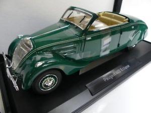 【送料無料】模型車 モデルカー スポーツカー プジョーエクリプスダークグリーン118 norev peugeot 402 eclipse 1937 dunkelgrn 184871