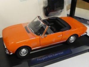 【送料無料】模型車 モデルカー スポーツカー プジョーカブリオレオレンジ118 norev peugeot 504 cabriolet 1970 orange 184826