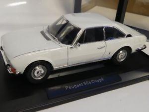 【送料無料】模型車 モデルカー スポーツカー プジョークーペホワイト118 norev peugeot 504 coupe 1969 wei 184825