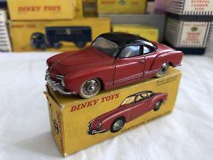 【送料無料】模型車 モデルカー スポーツカー フランスフォルクスワーゲンカブリオレタイプギアjouet ancien dinky toys france volkswagen karmann ghia boite d'origine 24m