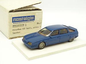 【送料無料】模型車 モデルカー スポーツカー ノスタルジアヒコシトロエンシリーズnostalgie heco modles rsine 143 citroen cx serie 2 bleue