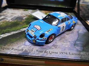 【送料無料】模型車 モデルカー スポーツカー ルノーアルパインツールドコルスラリーrenault alpine a110 tour de corse rallye 1974 larrousse gitanes trofeu 143