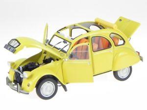 【送料無料】模型車 モデルカー スポーツカー シトロエンミモザイエローモデルカークラブcitroen 2cv 6 club 1979 mimosen gelb modellauto 181496 norev 118