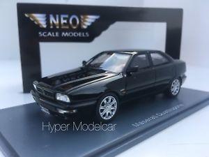 【送料無料】模型車 モデルカー スポーツカー ネオスケールモデルマセラティマセラティクアトロポルテブラックタイプネオ