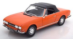 【送料無料】模型車 モデルカー スポーツカー プジョーカブリオレリムーバブルオレンジソフトトップ118 norev peugeot 504 convertible with removable softtop 1970 orange