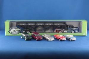 【送料無料】模型車 モデルカー スポーツカー ユニバーサルユニックトランスポータープジョーモデルnorev universal hobbies herpa unic autotransporter 5 peugeot modelle 187 h0