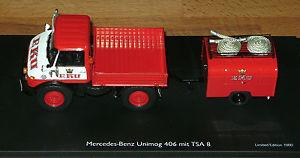 【送料無料】模型車 モデルカー スポーツカー mb unimog 406 mit tsa 8 werksfeuerwehr eku