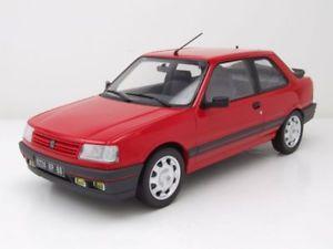 【送料無料】模型車 モデルカー スポーツカー プジョーレッドモデルカーpeugeot 309 gti 1987 rot, modellauto 118 norev