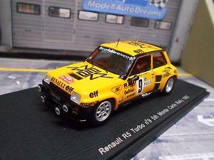 【送料無料】模型車 モデルカー スポーツカー ルノーターボラリーモンテカルロ#サビーマンスパークrenault 5 turbo rallye monte carlo 1982 9 saby man elf spark resin 143