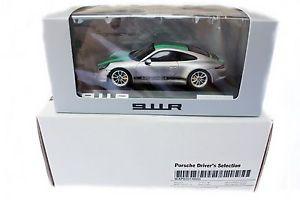 【送料無料】模型車 モデルカー スポーツカー ポルシェシルバーグリーンストライプポルシェドライバースパークporsche 911 991 r silber grne streifen porsche drivers selection spark 143